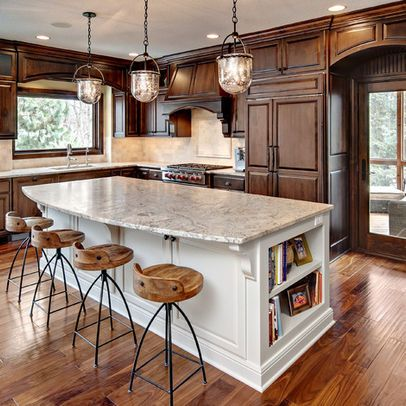 traditional kitchen photos light island dark cabinets design pictures remodel decor and ide on kitchen remodel light wood cabinets id=51368