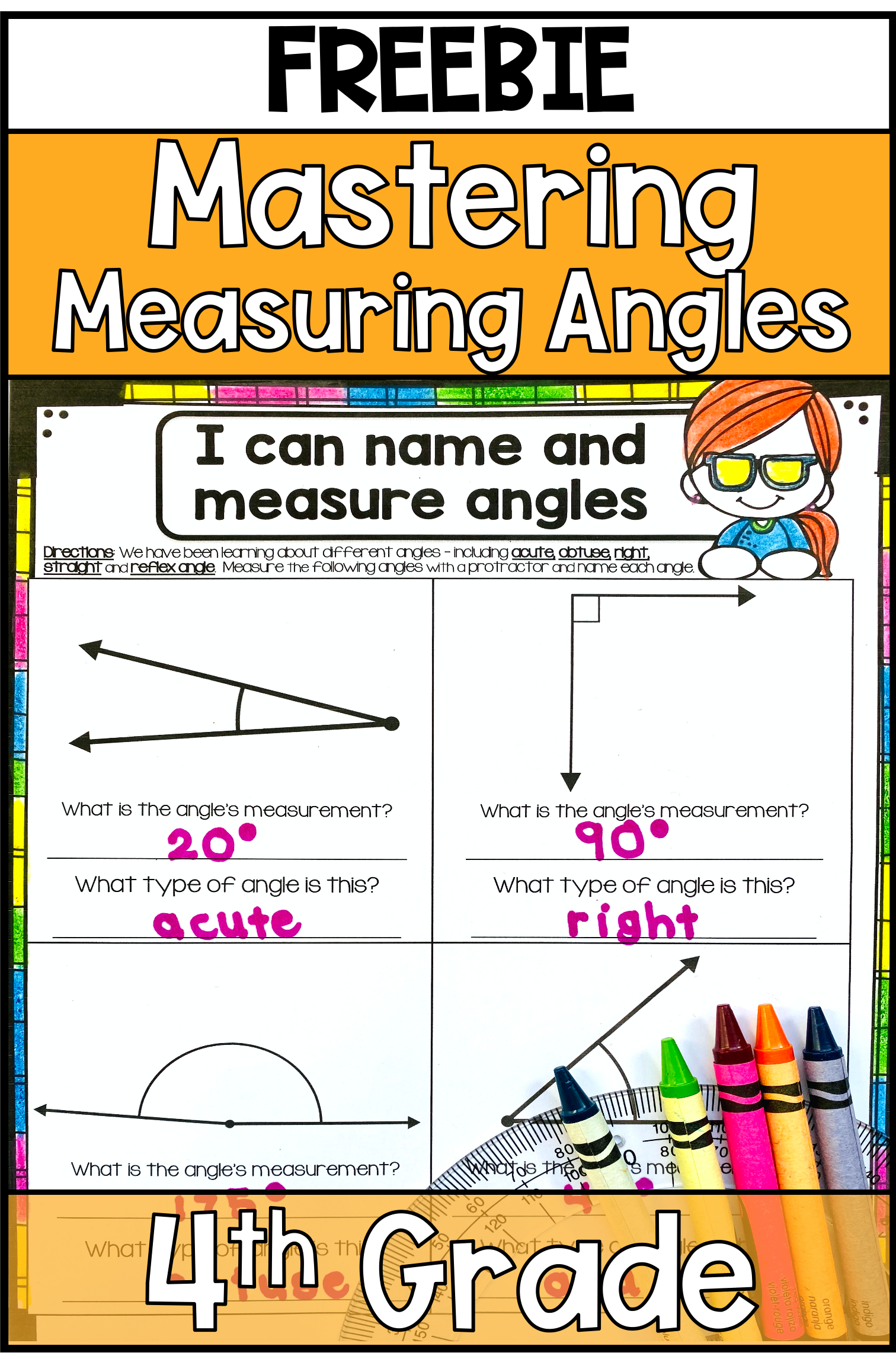 Measuring Angle Tips For Your Fourth Graders With Freebies Math Activities Elementary 4th Grade Math Life Skills Classroom [ 2293 x 1512 Pixel ]