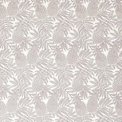 Pineapple Peel & Stick Removable Wallpaper Brown