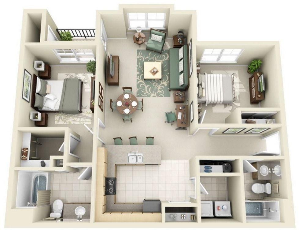 Plano en 3d planos de casas modernas deptos prof patty for Planos de casas pequenas en 3d
