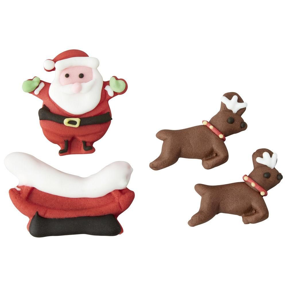 Gingerbread Candy Decorations Santa Sleigh And Reindeer
