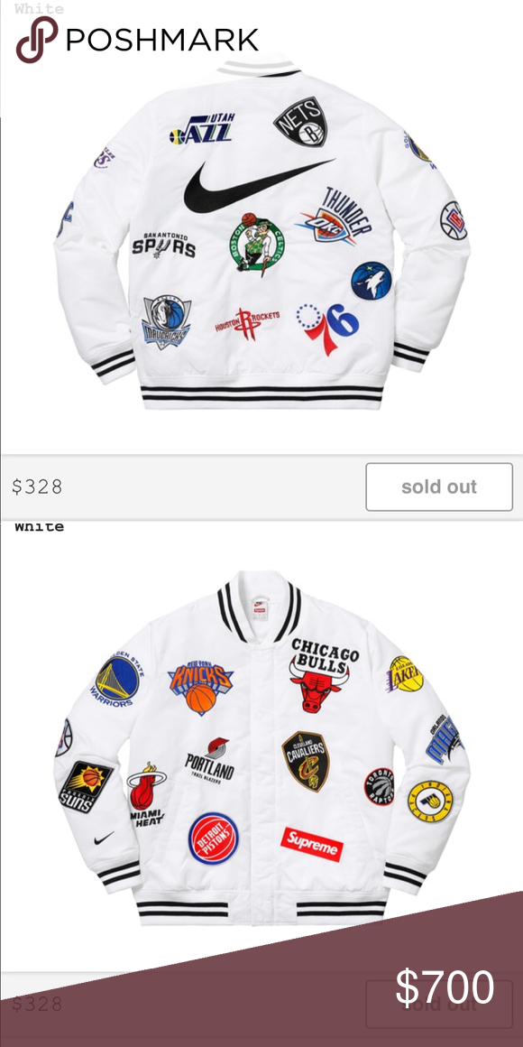 fbf8339e6 Supreme Nike NBA Warm Up Jacket - White  Medium Bought the item yesterday  from supreme and I have the order confirmation. Supreme Jackets   Coats  Bomber   ...