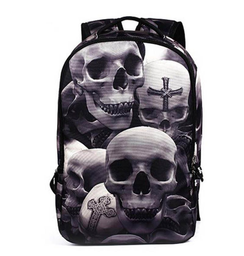 9bab1e14128 ... from China high school bags Suppliers  2017 New Fashion Men s Backpack  Cool Printing Backpacks Skull Heads Senior High School Bags For Teenage Boys  ...