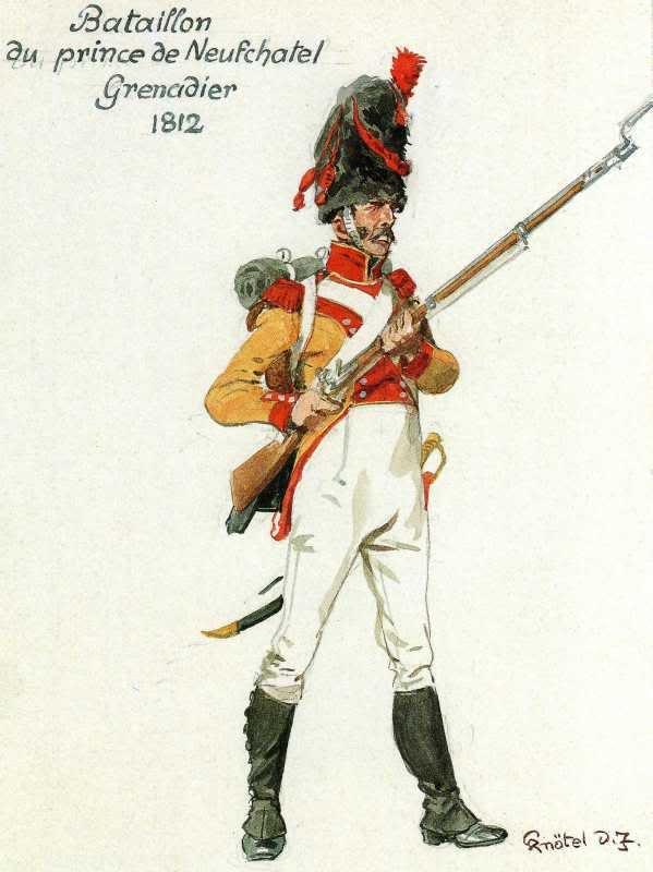 Swiss; Neuchatel Battalion, Grenadier 1812 by H.Knotel