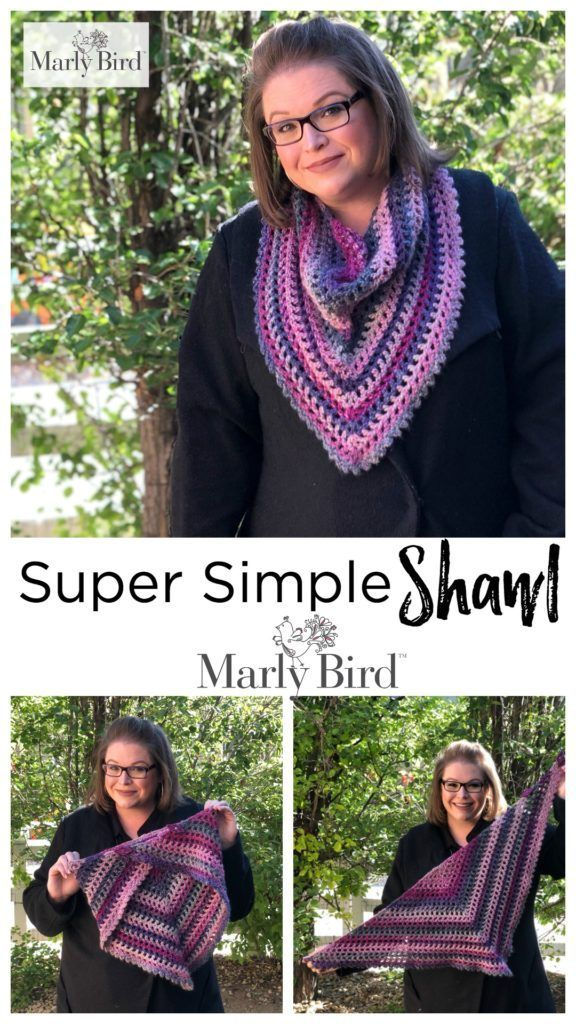 Free Pattern Crochet Super Simple Shawl By Marly Bird Wraps Etc