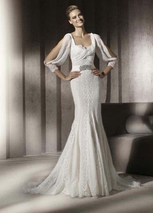 Romantic Vintage Lace Wedding Dresses