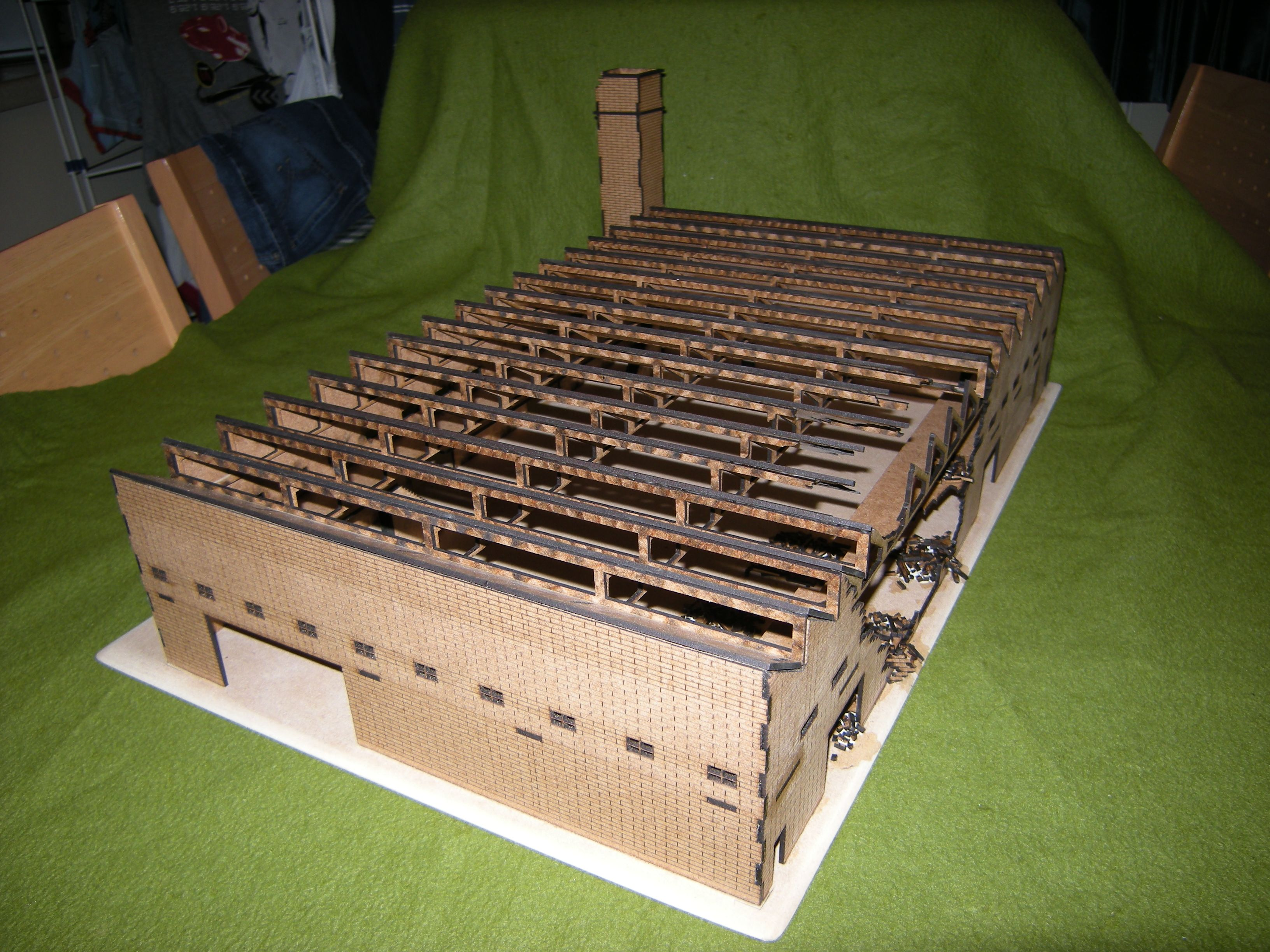 15mm scale factory, for a Stalingrad game | Game & Terrain