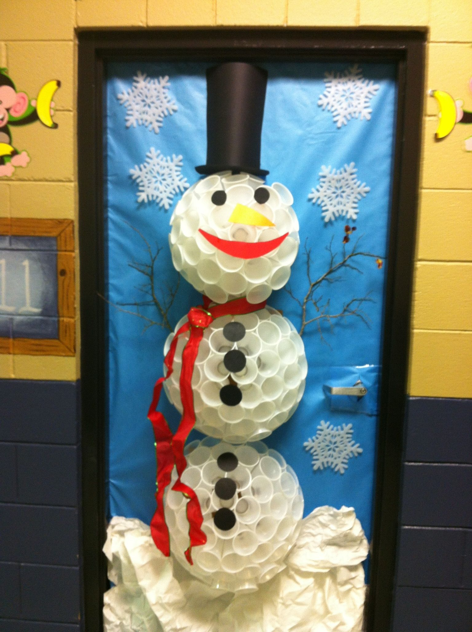 Christmas Door Office Door Contest Pinterest Doors