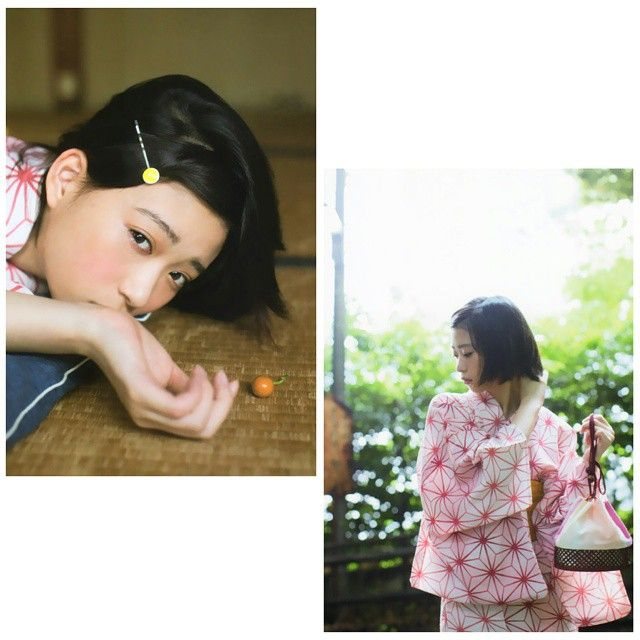 Made with @nocrop_rc #rcnocrop #morikawaaoi #森川葵 #ショートヘア #浴衣 #うなじ美人 #japanese #japan #yukata #kawaii