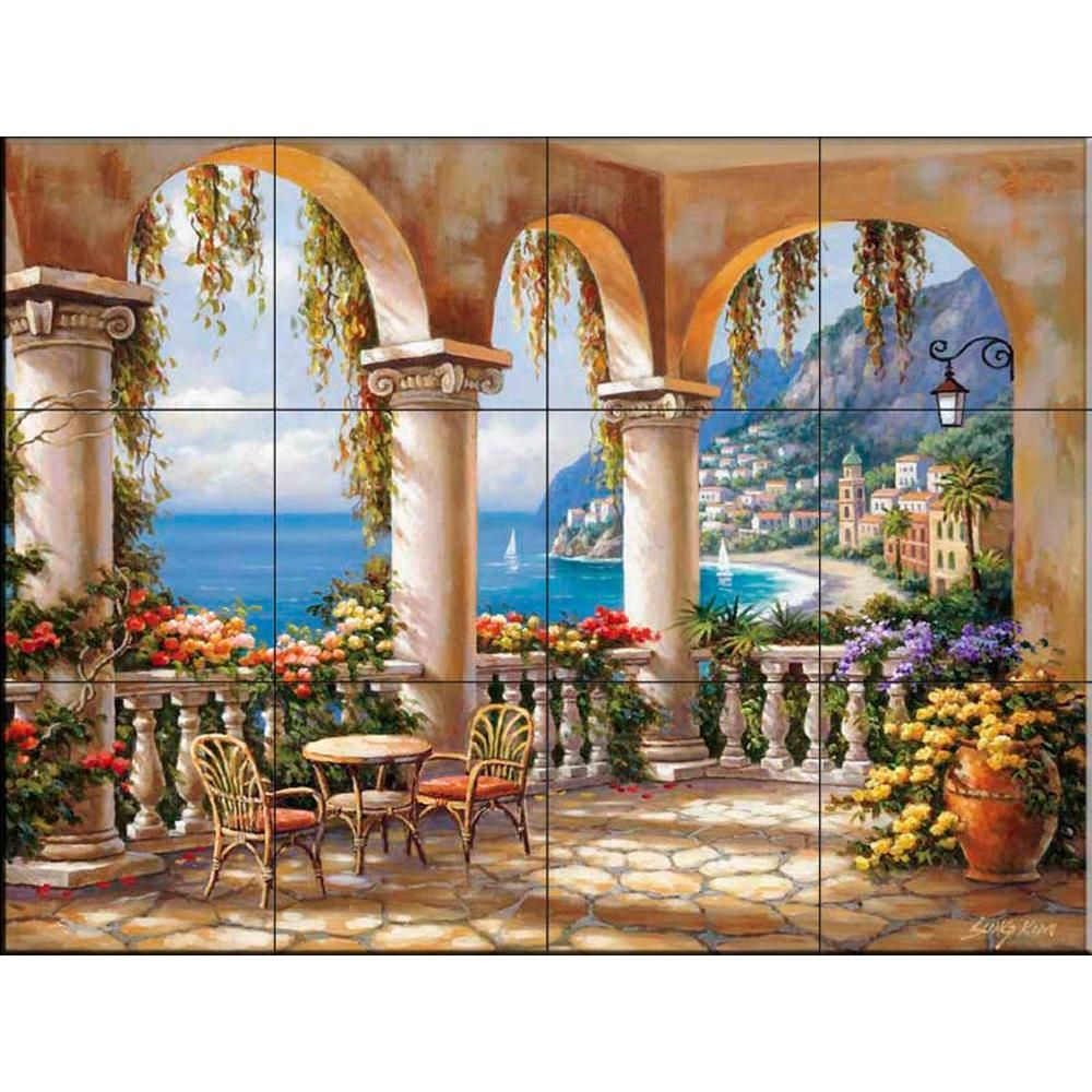 The Tile Mural Terrace Arch I 17 In X 12 3 4