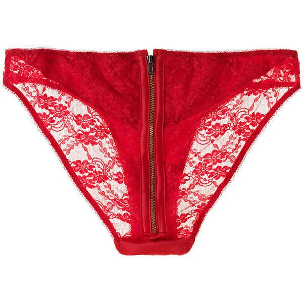 15e8fc8cc48 Victoria s Secret Zip-Back Bikini Panty ( 24) ❤ liked on Polyvore featuring  intimates