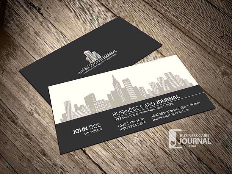 This professional property inspired design is perfect for realtor 40 creative real estate and construction business cards designs flashek Choice Image