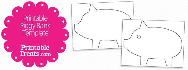 Printable Piggy Bank Template Money Box Vorlage Model