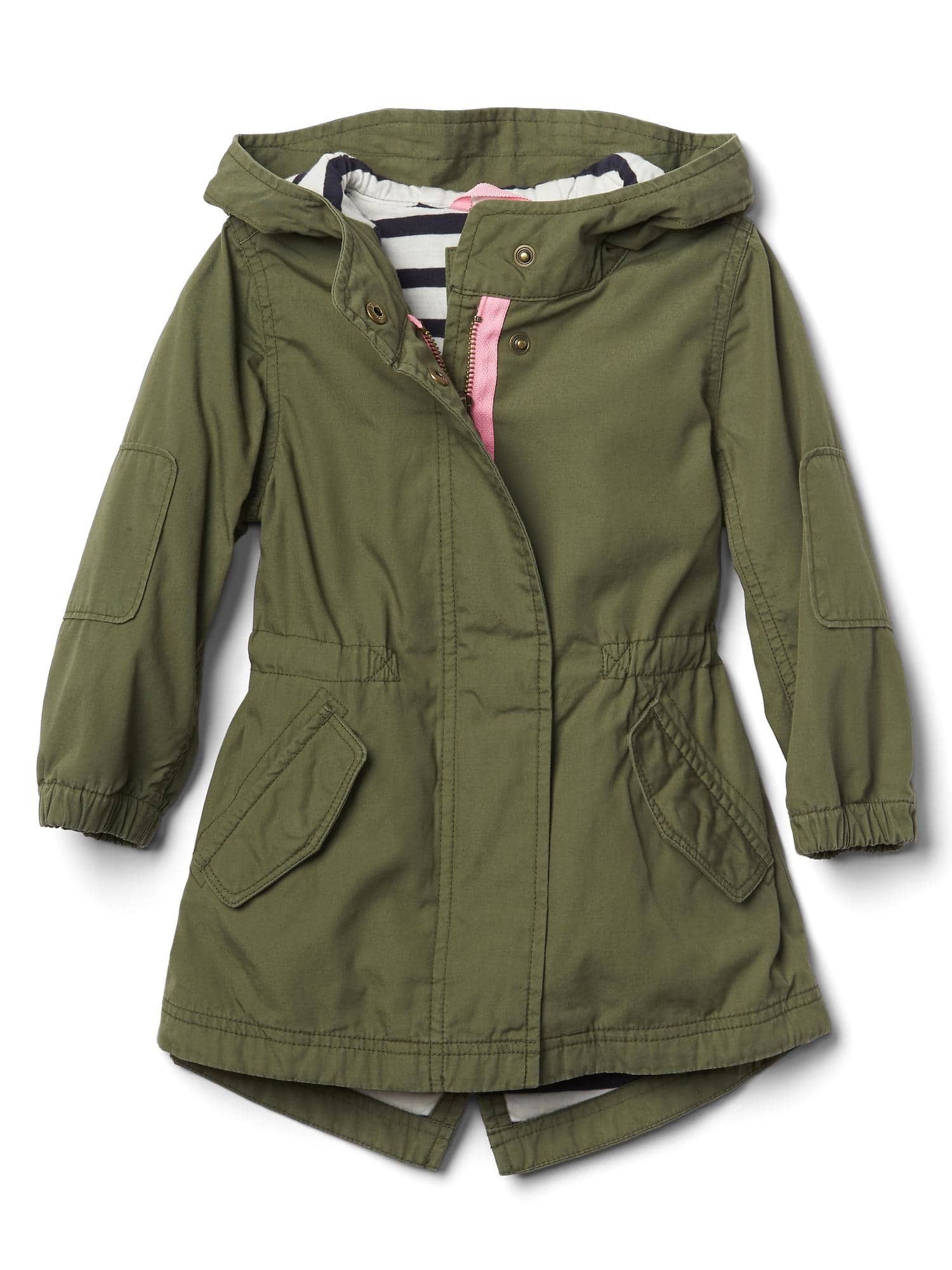 OshKosh BGosh girls Lightweight Anorak Jacket With Jersey Lining