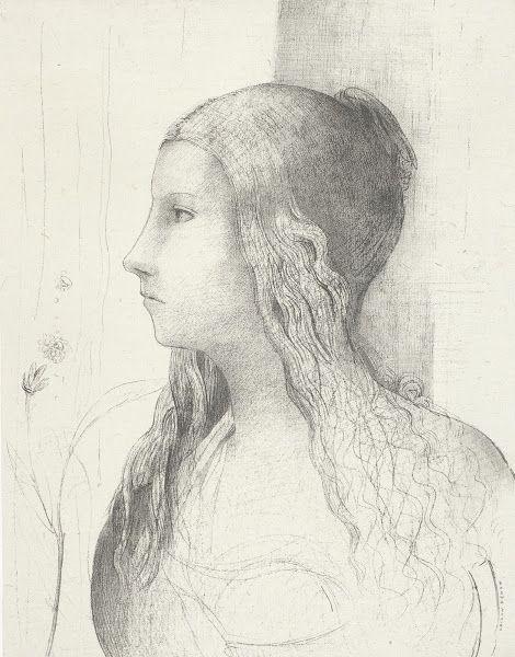 Brünnhilde in Die Götterdämmerung van Wagner (Brünnhilde, crépuscule des dieux), 1894, Odilon Redon, Van Gogh Museum, Amsterdam (Staat der Nederlanden)