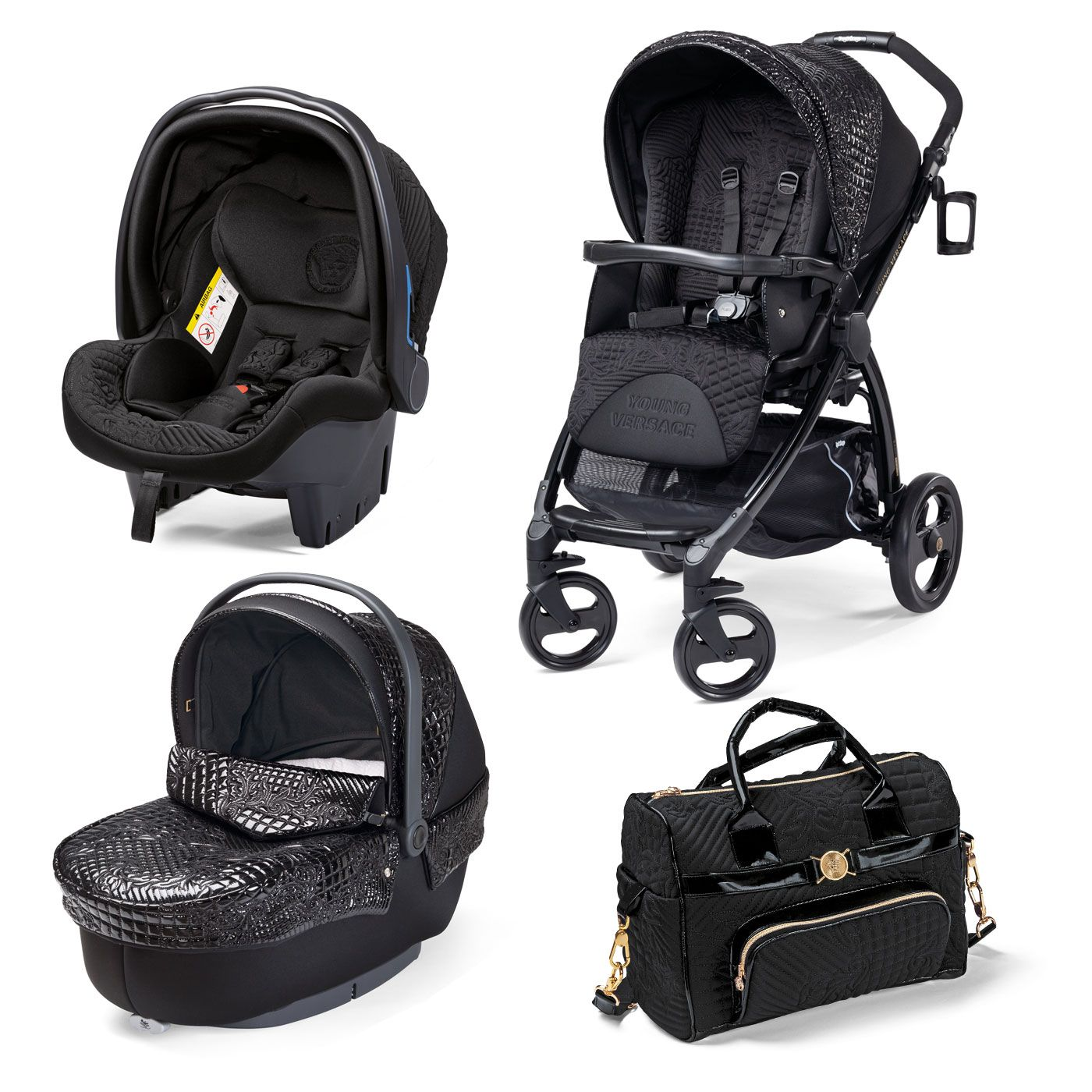 I share Young Versace Stroller Black with Pinterest from Babyshop item page