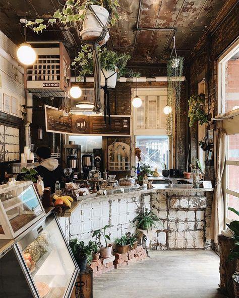 Cozy Cafe in 2020   Cozy coffee shop, Coffee shop decor ...
