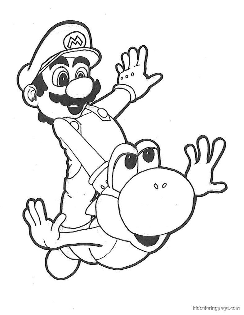 Super Mario Yoshi Coloring Pages | super mario yoshi coloring pages ...