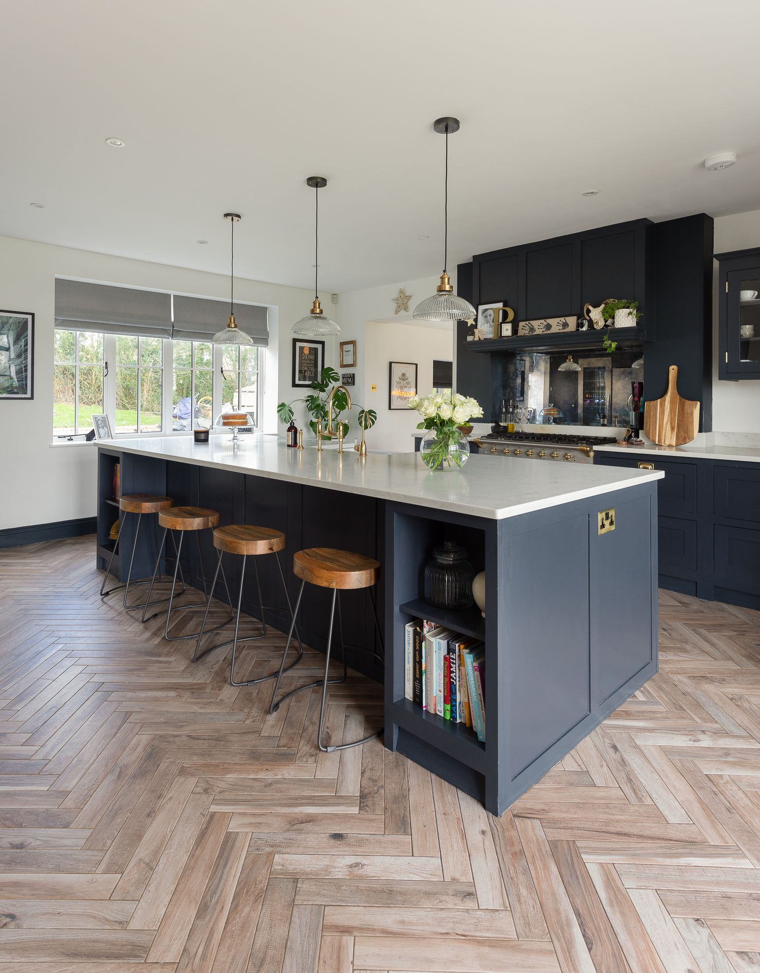 Classic Shaker style kitchen   Open plan kitchen dining living ...