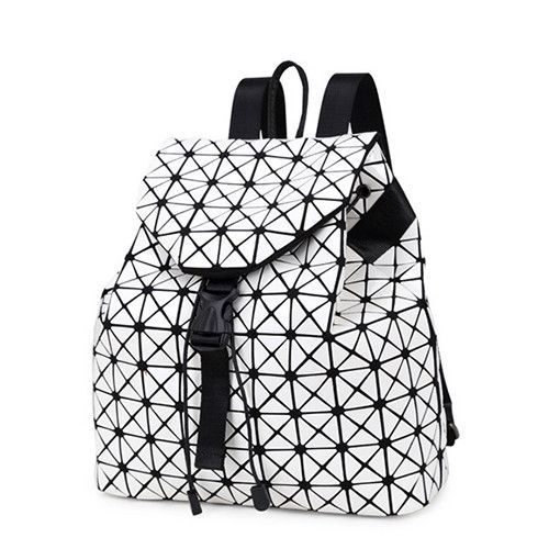 Women backpack geometric patchwork sequin plaid female backpacks for girls  drawstring bag 65b0adfbf948e