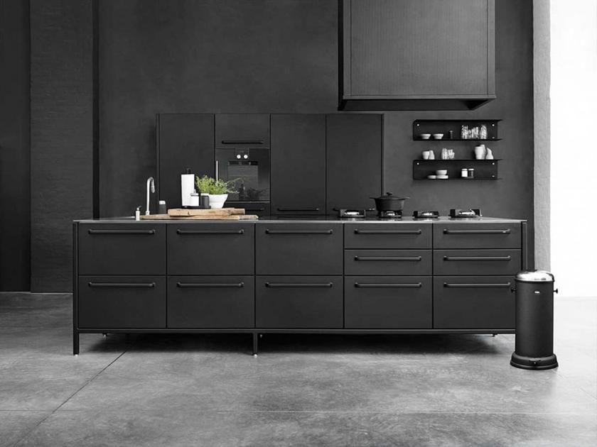 Mit Schwarz wohnen | Pinterest | schwarzer Edelstahl, weiße Küchen ...