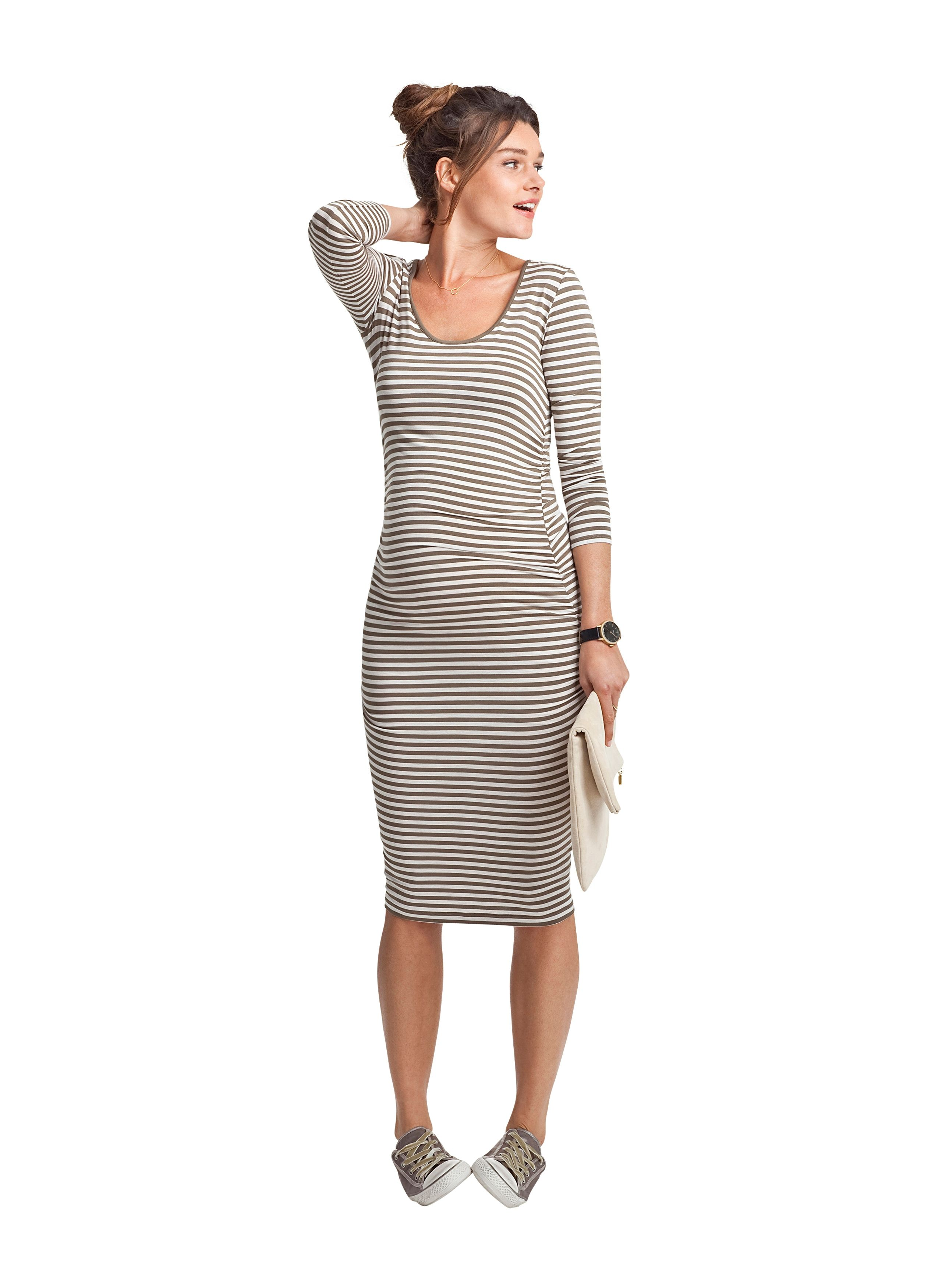 Hayfield striped maternity dress in green isabella oliver uk hayfield striped maternity dress at isabella oliver shop our luxury maternity collection today for stylish premium quality maternity clothes that will ombrellifo Choice Image