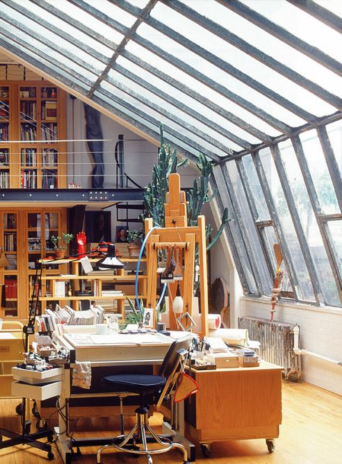 Manhattan Artist Loft Via Elle Es Art Studio At Home Loft Studio Studio Apartment Design