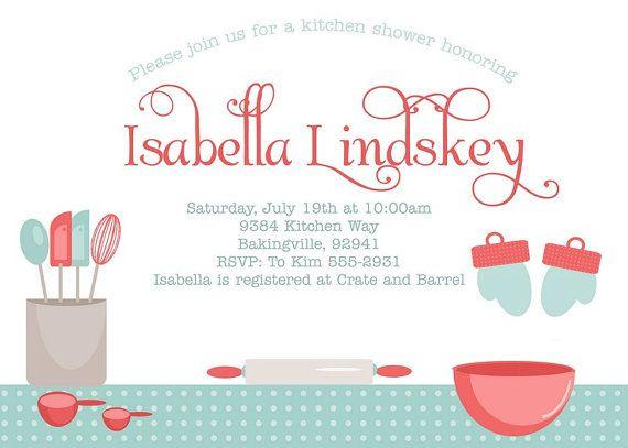KITCHEN BRIDAL SHOWER Invitation - Kitchen Tea Invitation - printable bridal shower invites