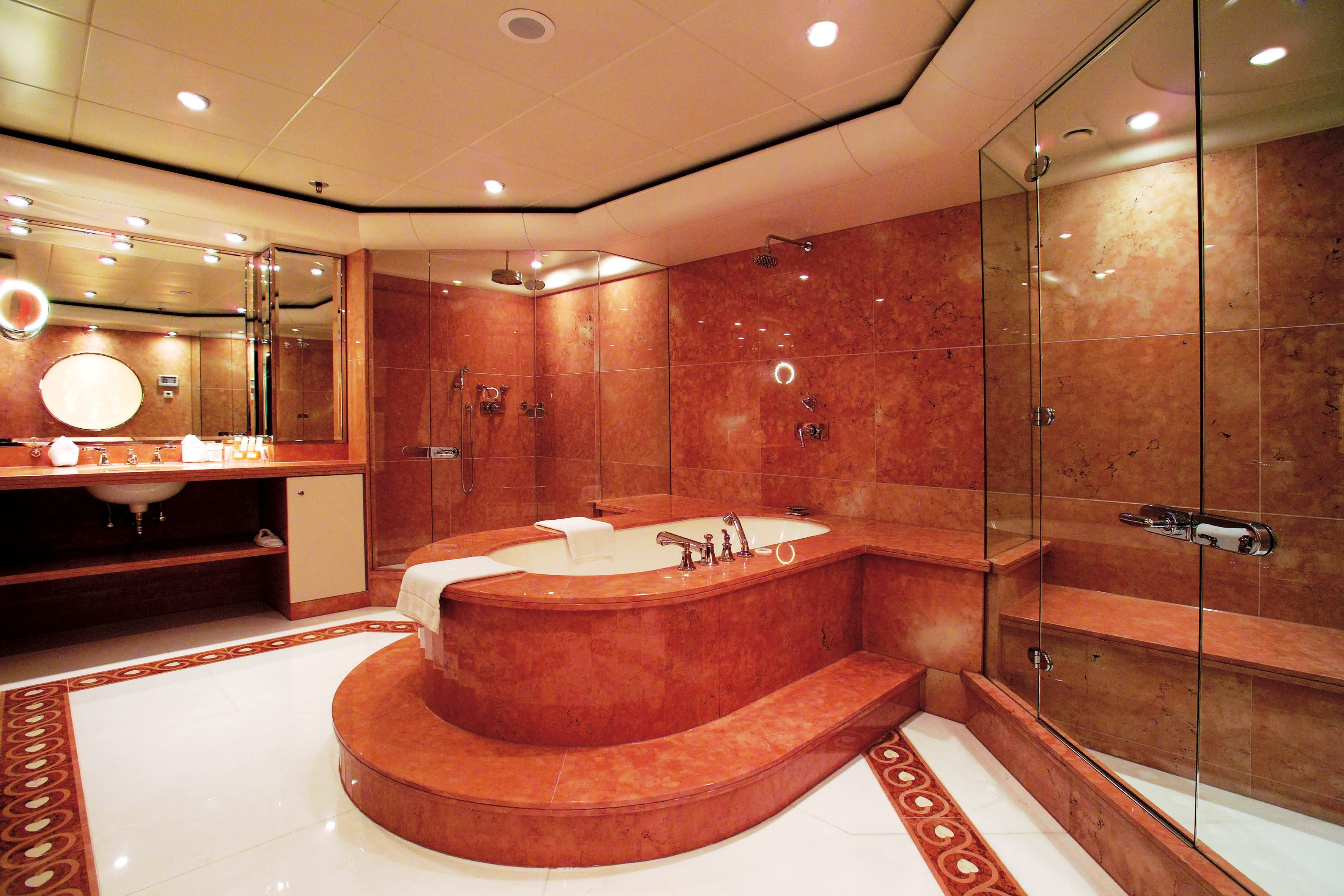 Her master suite comprises of a master bedroom dressing for Master bathroom his and hers