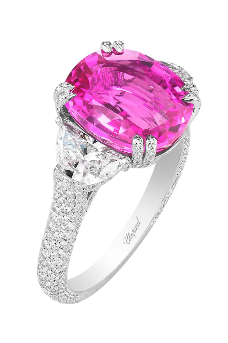 The Pink Engagement Ring Makes A Classy Comeback | Chopard, High ...
