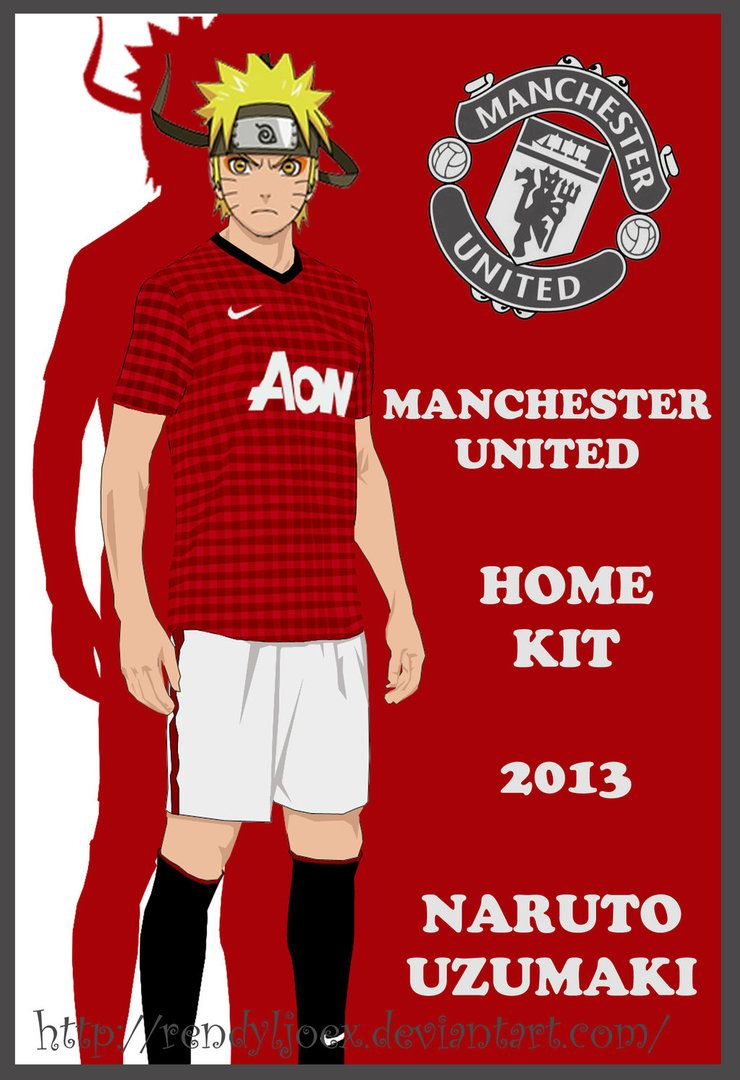76a22f441 Naruto Manchester United Home Kit 2012 - 2013