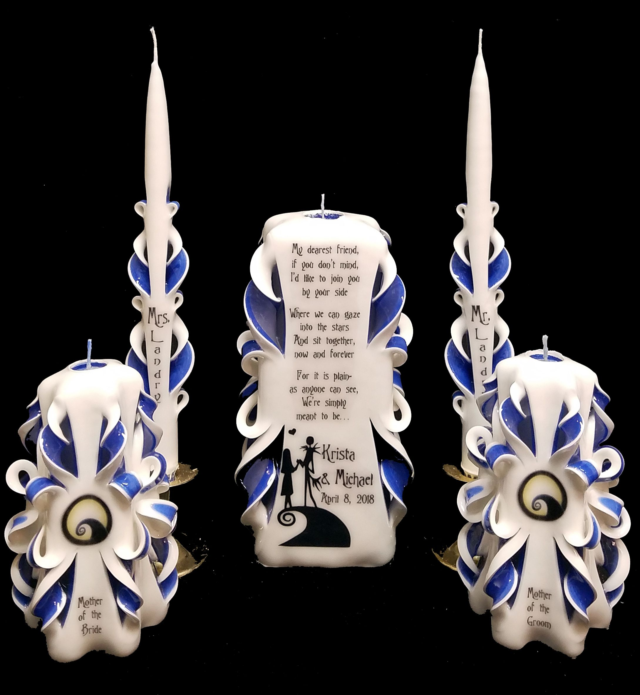 Custom Made Nightmare Before Christmas Candle Sets From Kat S