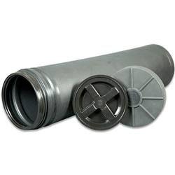 Mono Vault Burial Tube with Gamma Seal Lid Protective Cap Waterproof