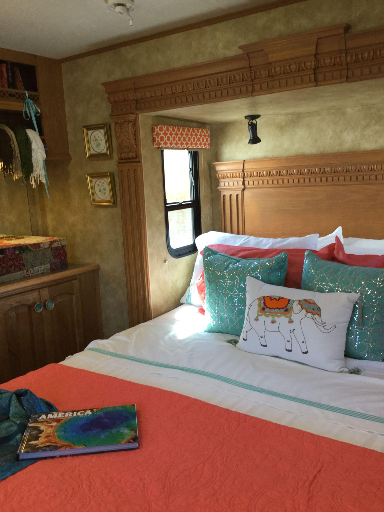 Fifth wheel bedroom Rv makeover, Home decor, Furniture
