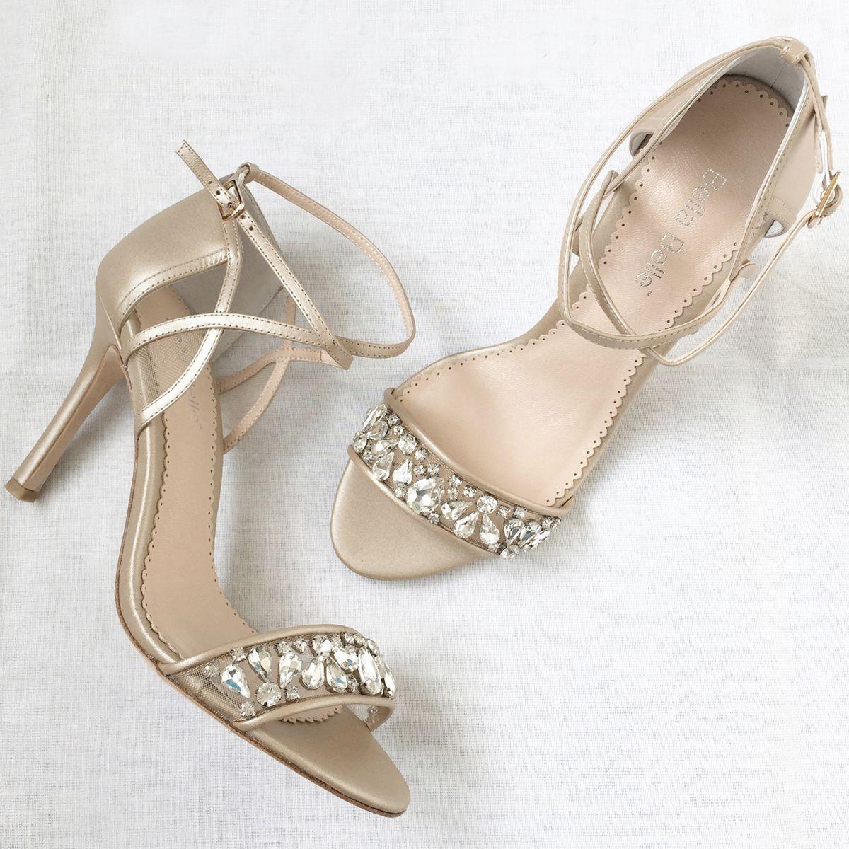 7dc5353059a6 Nude Jewel Toe Bridesmaid Shoes - Filipa