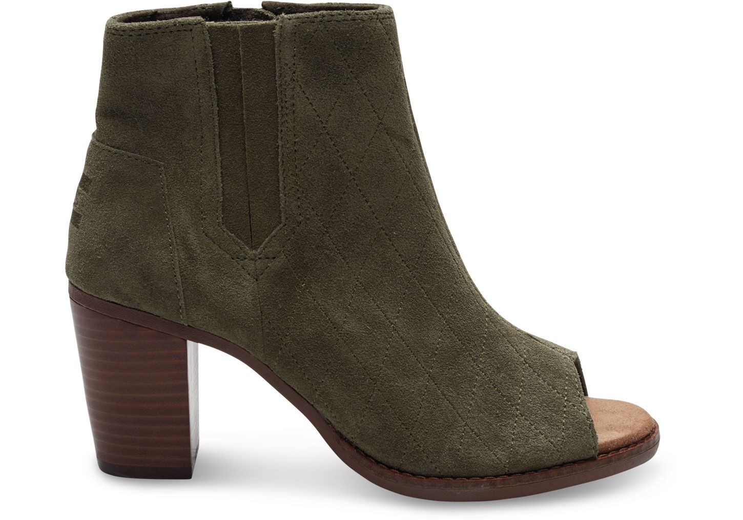 Search Reasonable Prices On TOMS Green Tarmac Olive Suede Quilted Women's Majorca  Peeptoe Booties., Get yours today at TOMS Green Tarmac Olive Suede Quilted  ...
