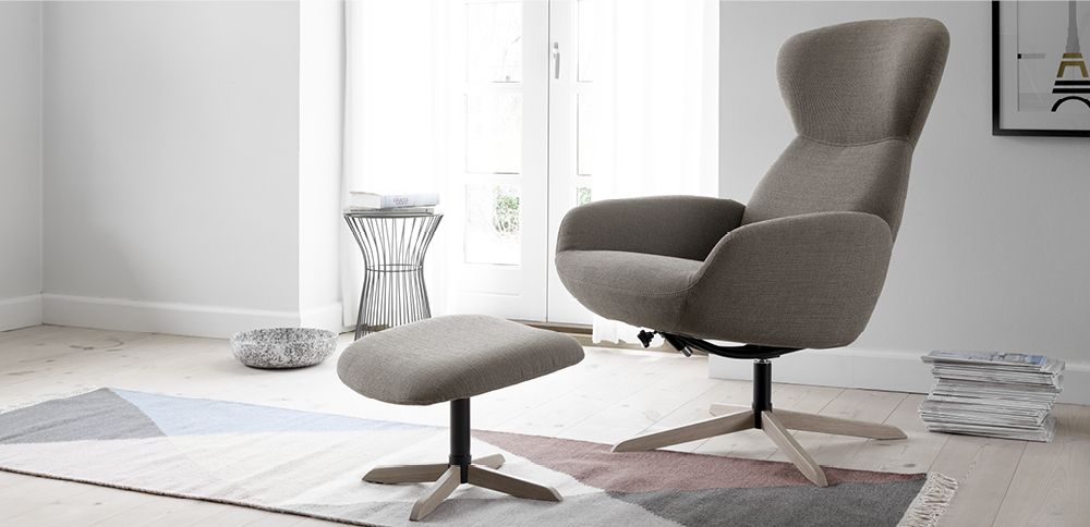 le confortable fauteuil inclinable athena un design moderne par boconcept deco pinterest. Black Bedroom Furniture Sets. Home Design Ideas