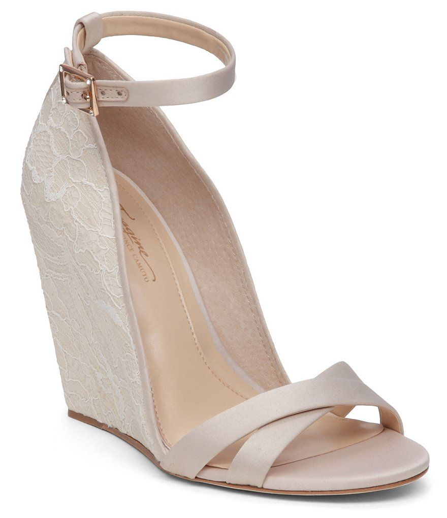 Imagine Vince Camuto Lilo Lace Ankle Strap Dress Wedge | Vince ...