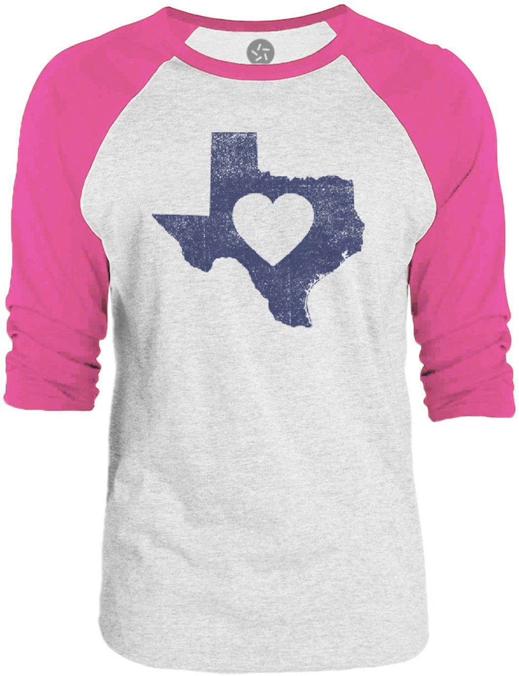 Big Texas Texas Love 3/4-Sleeve Raglan Baseball T-Shirt