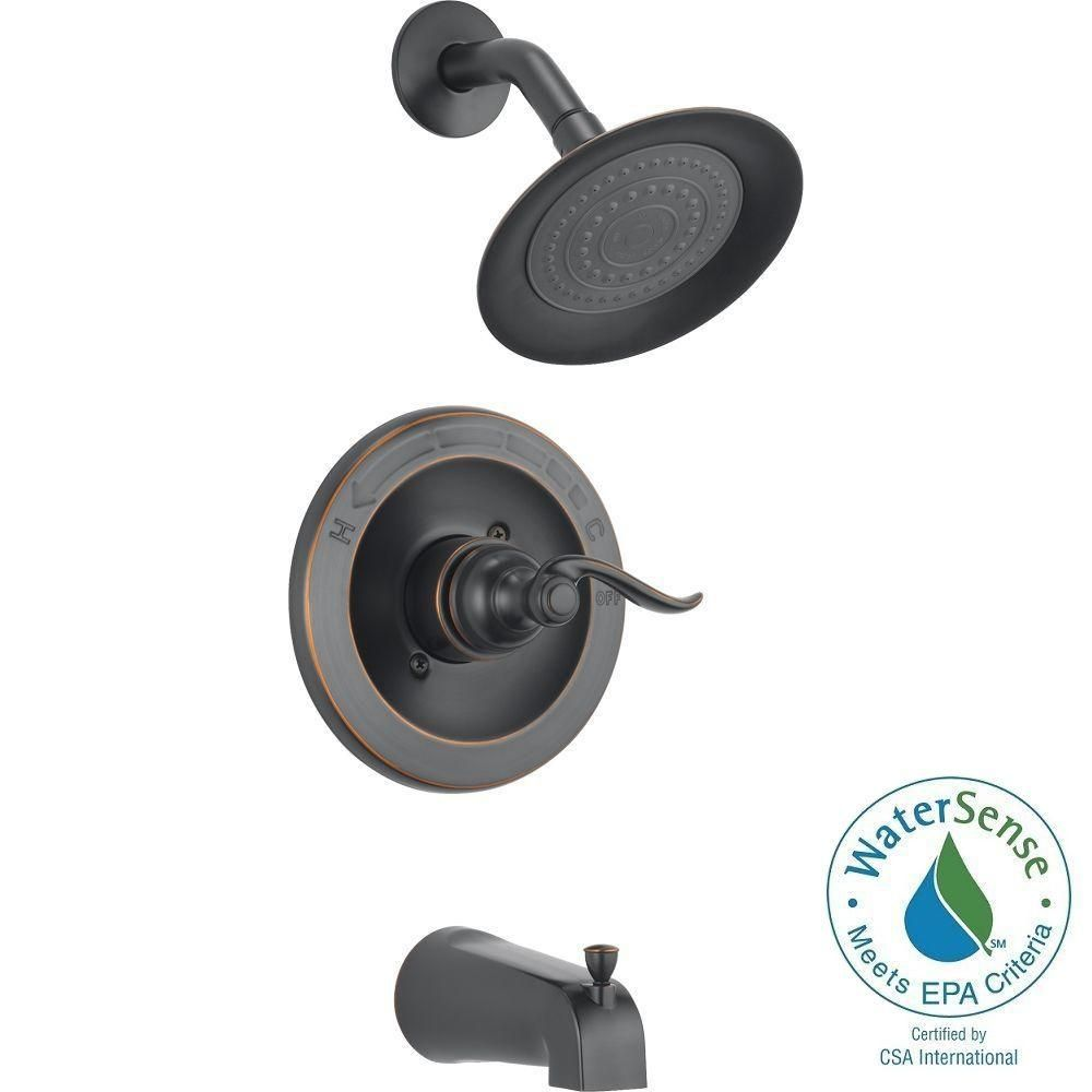 Delta Windemere 1 Handle Tub And Shower Faucet Trim Kit In Oil