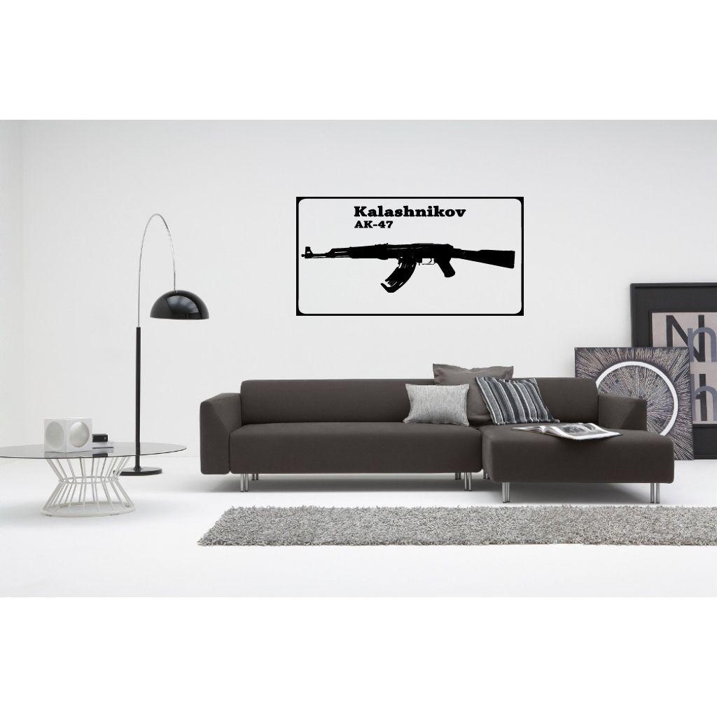 Kalashnikov AK 47 Wall Art Sticker Decal