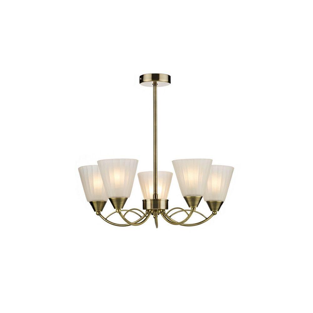 Dar Lighting RID0575 Ridley 5 Light Antique Brass Pendant Ceiling ...