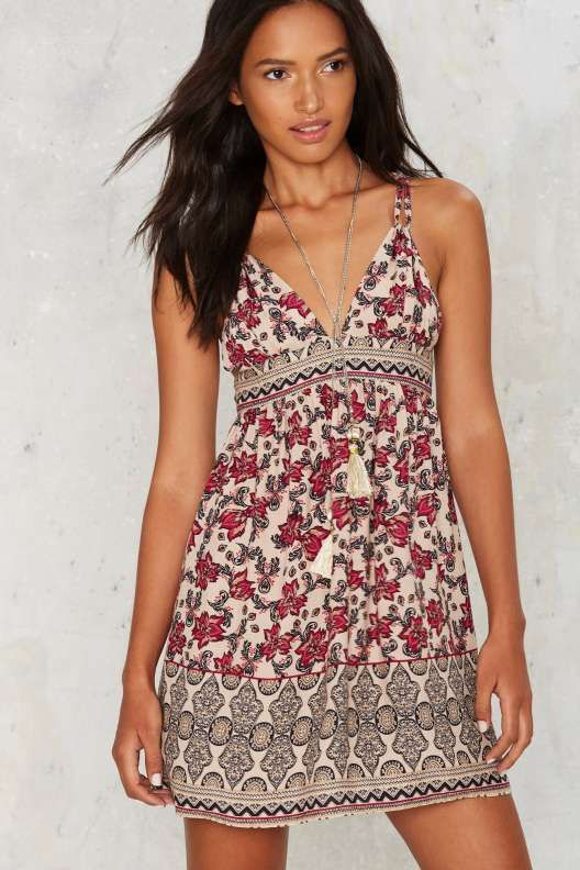Petal  n Peril Plunging Dress - Dresses  3963b9b1c