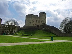 Dudley Castle is a ruined castle in the town of Dudley, West Midlands, England. Dudley Zoo is located in its grounds. The location, Castle Hill, is an outcrop of Wenlock Group limestone that was extensively quarried during the Industrial Revolution, and which now along with Wren's Nest Hill is a Scheduled Ancient Monument as the best surviving remains of the limestone industry in Dudley. It is also a Grade I listed building. The Dudley Tunnel runs beneath Castle Hill, but not the castle…