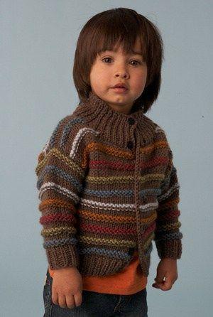 Boys Striped Cardigan Free Knitting Patterng 300446 Knitting