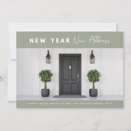 New year new address photo holiday | Happy new year design ...