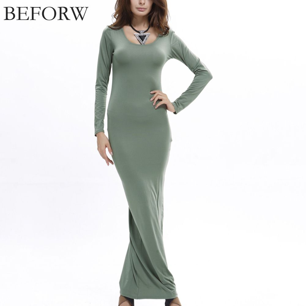 Before sexy women dress fall winter long sleeve solid plus size long
