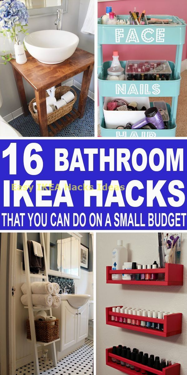 16 Bathroom IKEA Hacks That You Can Do On A Small… #selbstgemachtezimmerdeko