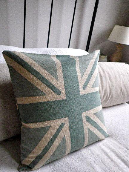 Aqua Union Jack Pillow Home Design Ideas