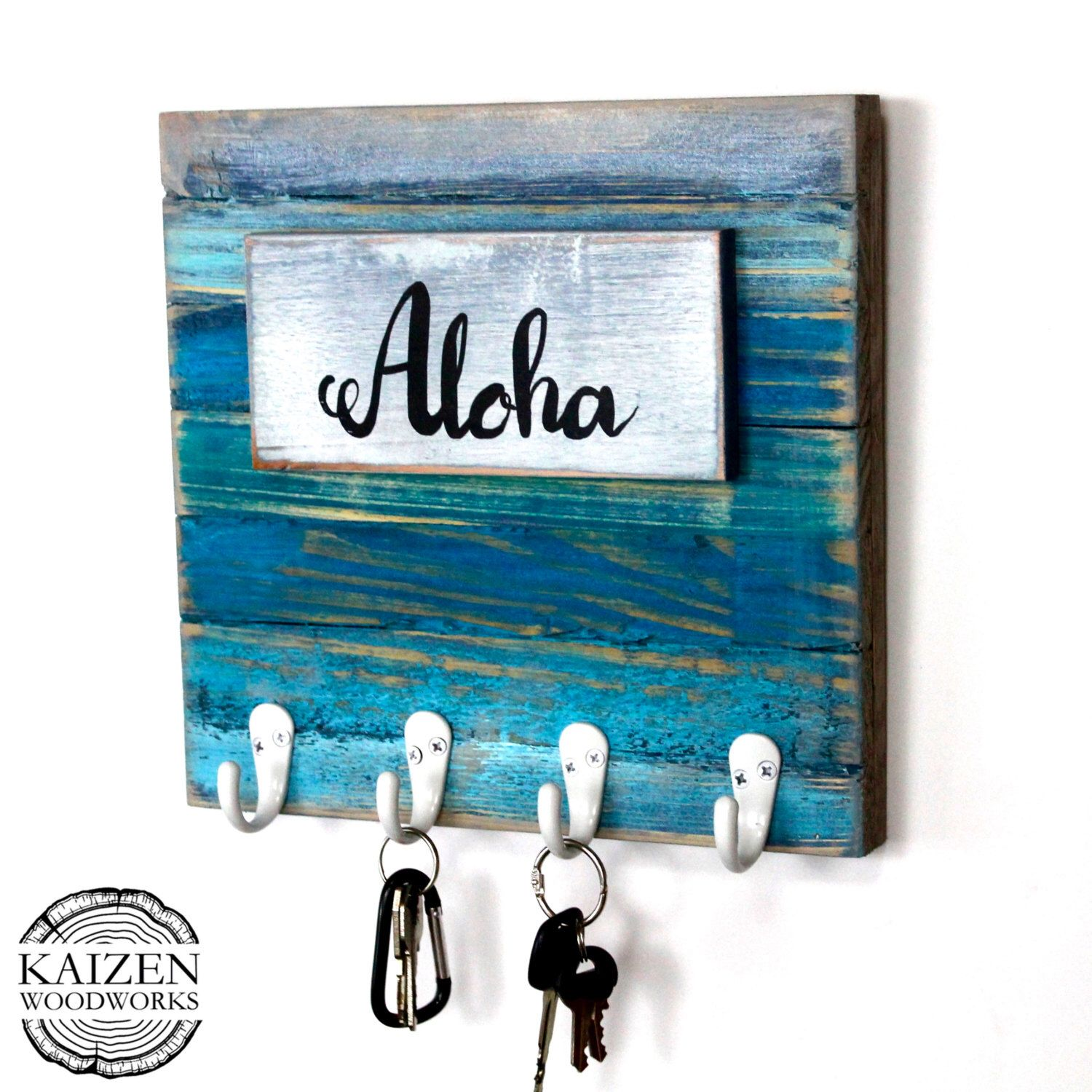A personal favorite from my Etsy shop https://www.etsy.com/listing/473355253/rustic-beach-vibe-entryway-organizer